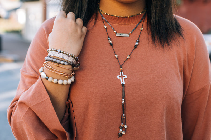 Decade Tassel Necklace Cross