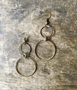 Oh So Funky Earrings Double Circle