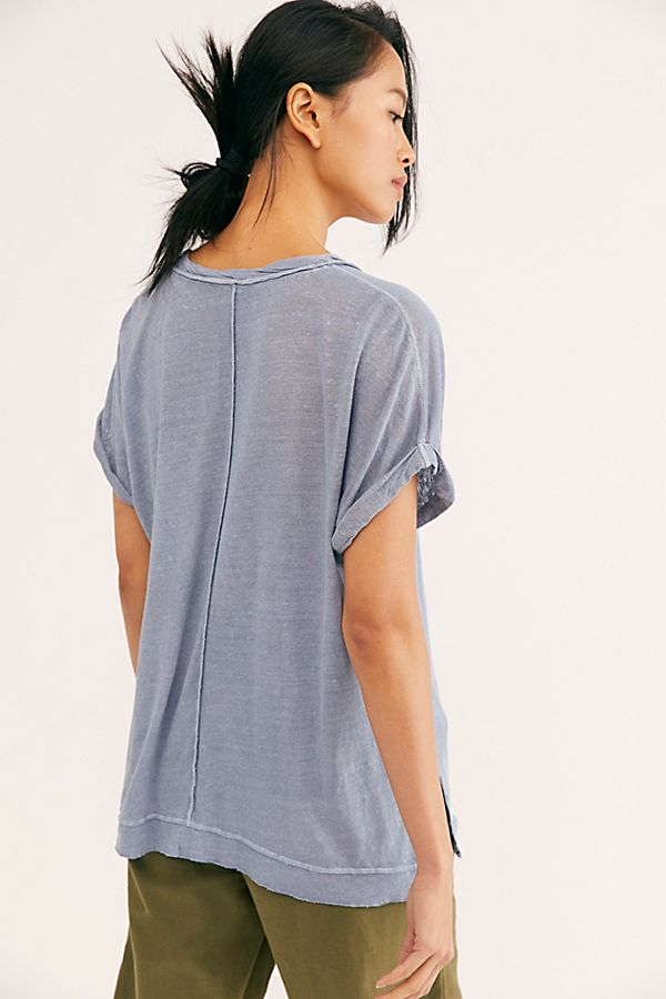 Under The Sun Tee Denim Blue