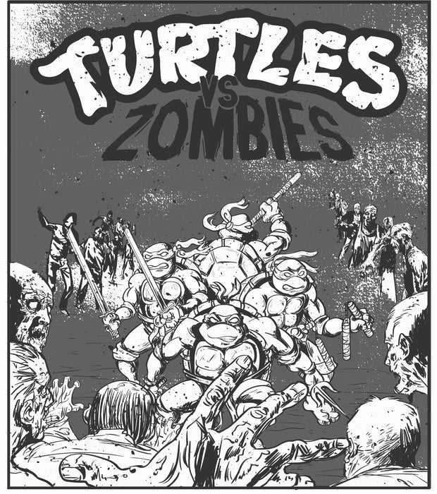 Turtles Vs. Zombies Poster