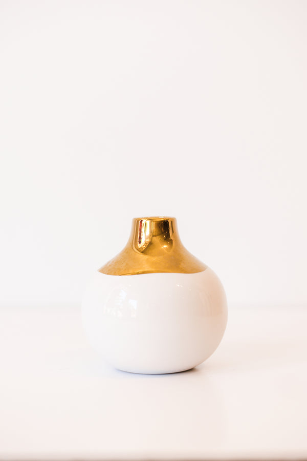 Metallic Bud Vase