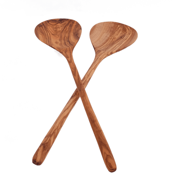 Olive Wood Simple Salad Servers