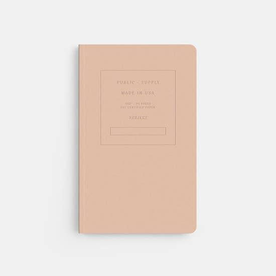 Embossed Soft Cover Notebook - Ruled Paper, 5x8""