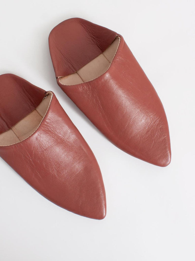 Moroccan Plain Pointed Babouche Slippers