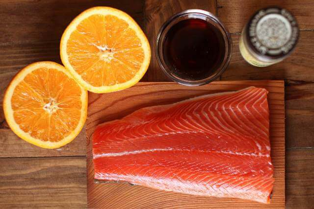 Cedar Plank Salmon with Orange, Maple and Cardamom Glaze
