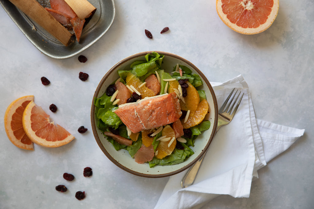 Cedar Wrapped Salmon with Citrus Salad