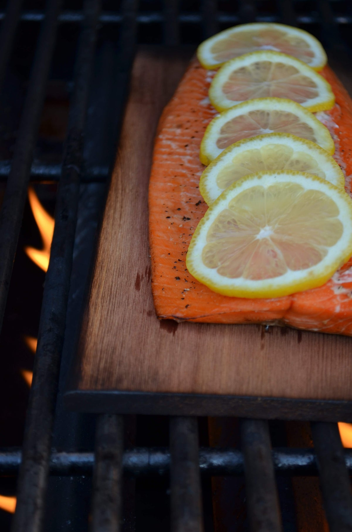 Maple and Citrus Cedar Planked Salmon