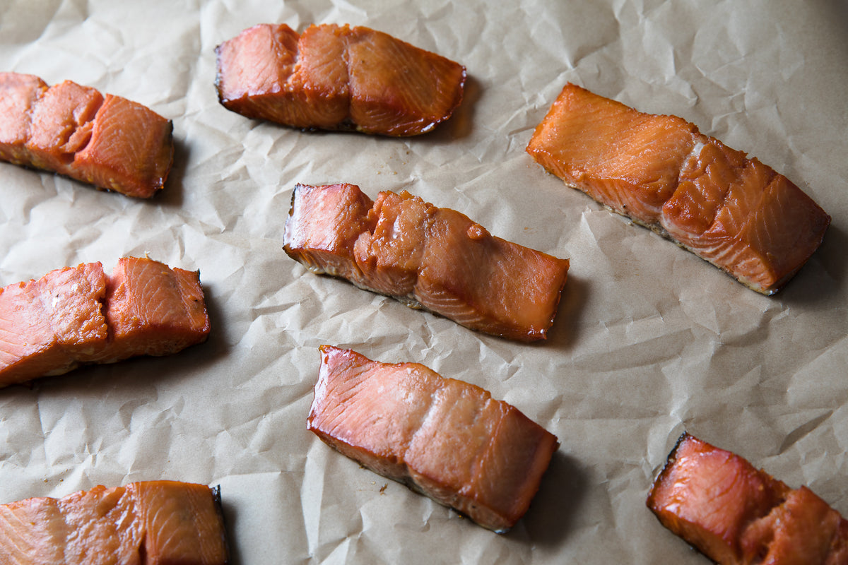 Maple Smoked Candied Salmon