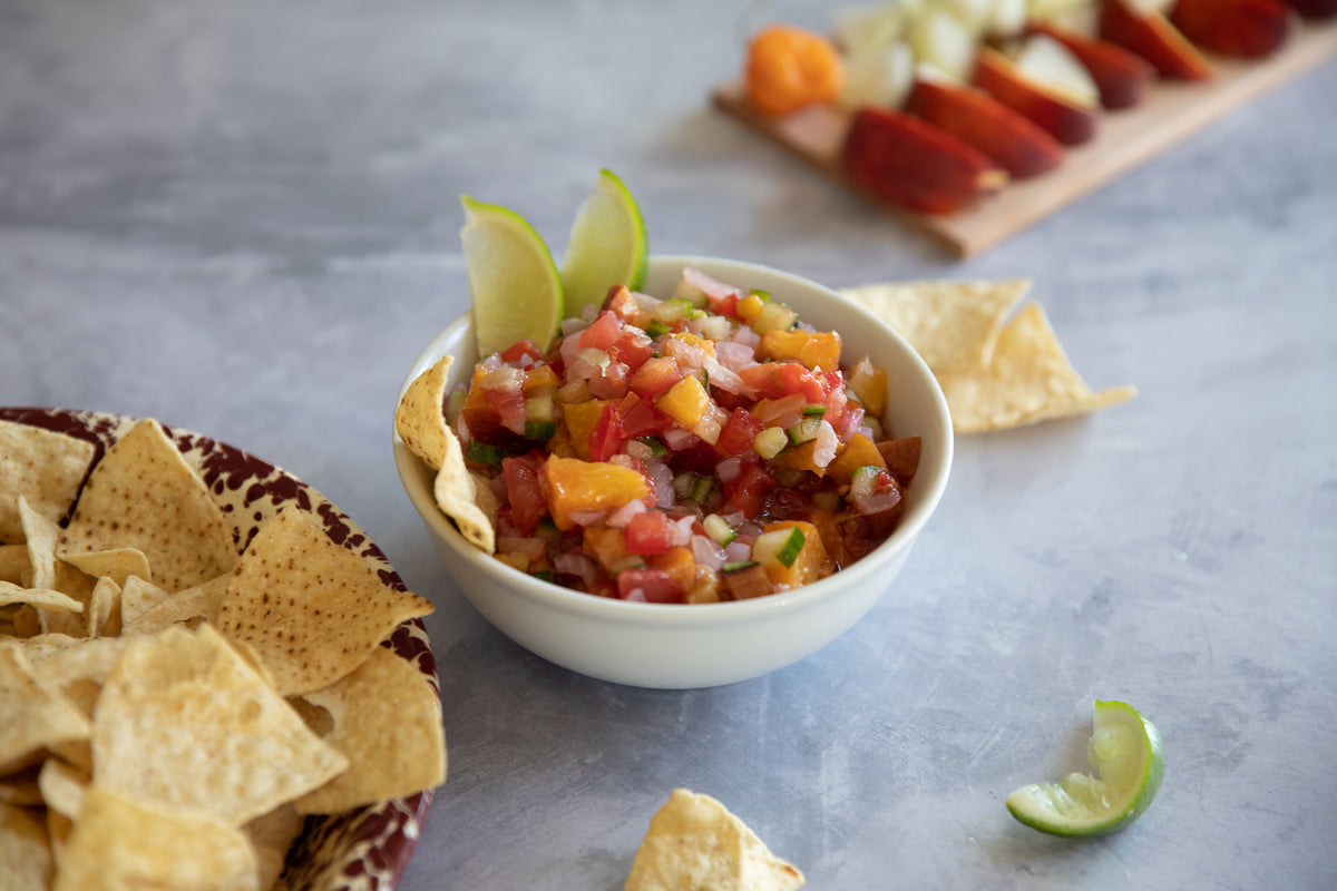 Cherry Planked Peach Habanero Salsa