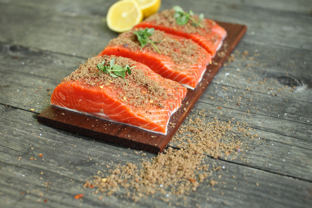 Five Ingredient Cedar Planked Salmon