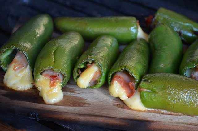 Maple-Plank Grilled Jalapeno Poppers