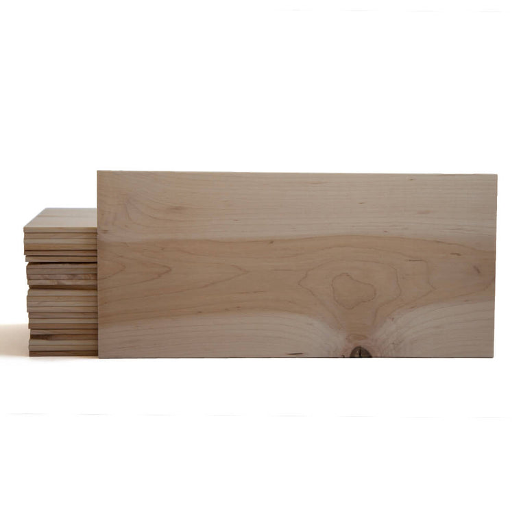 Large Maple Quick Soak Grilling Planks - 7x15