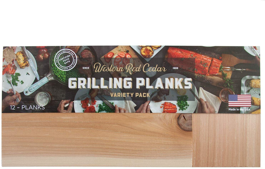 Cedar Grilling Plank Party Pack - 12 Planks in 3 Sizes