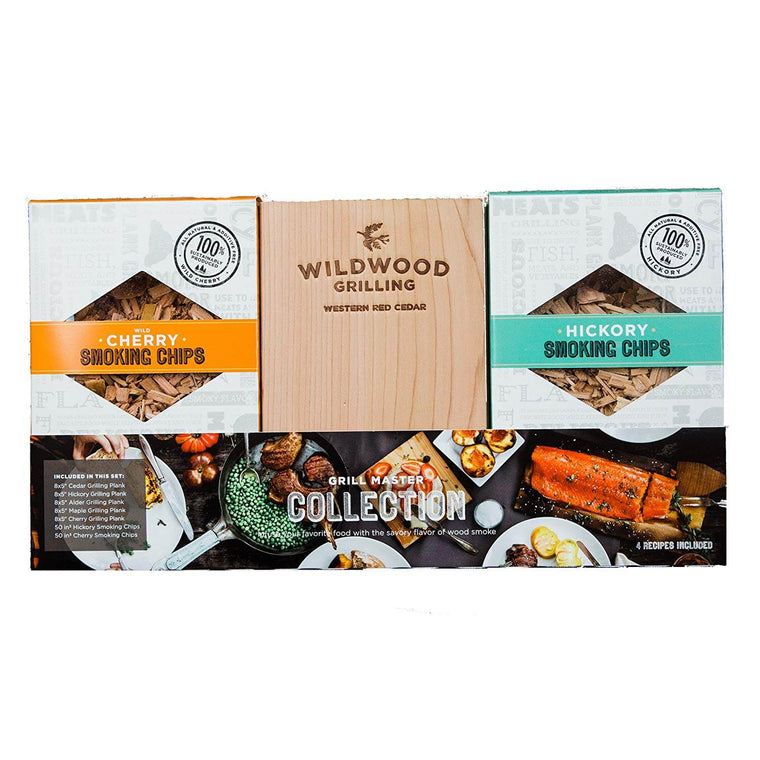 Grilling Gift Set - Grilling Planks + Smoking Chips Sampler