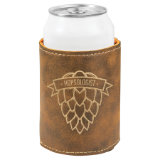 Can Coolers - Leatherette - Laser Engraved