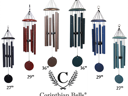 Corinthian Bell Wind Chimes - Laser Engraved
