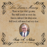 Ceramic Tile - Memorial Plaque - 6x6 or 8x10
