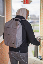 "Limited Edition Vulcan Premium ""V"" Backpack with USB Charging Port"