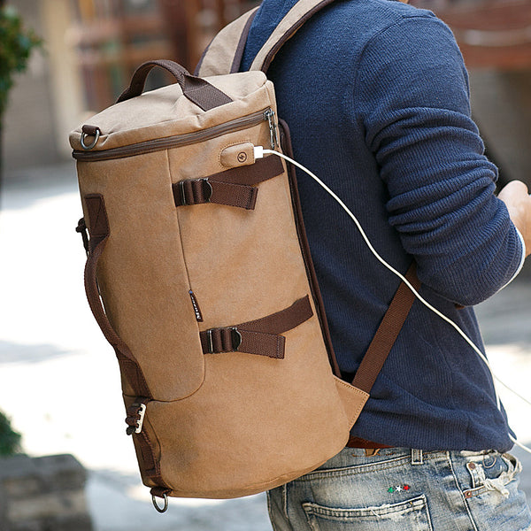 Vulcan Backpack Duffle Bag with USB Charging Port