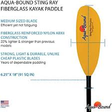 Aqua Bound Sting Ray Fiberglass 2-piece 210 cm kayak paddle