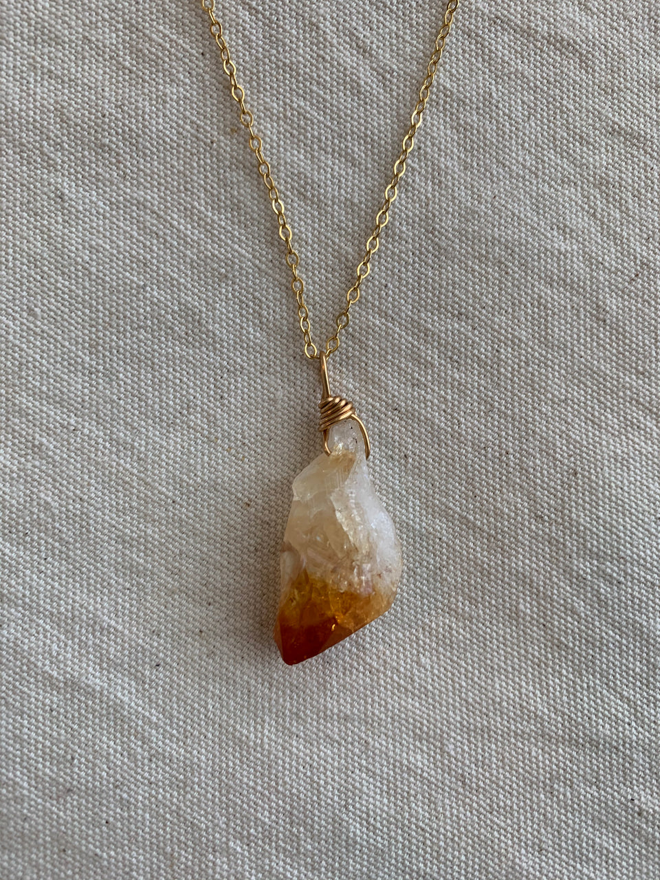 Citrine medium necklace