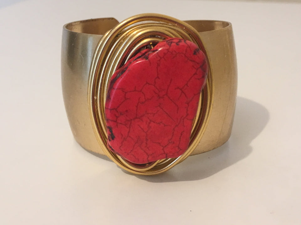 Red Magnesite Large Cuff