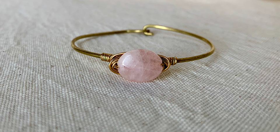 Rose quartz small bracelet