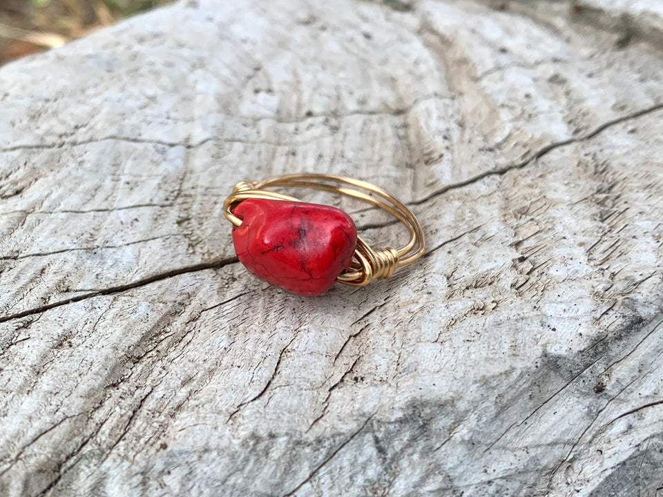 Red magnesite small ring