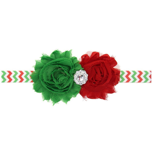 Red and Green Christmas Headband