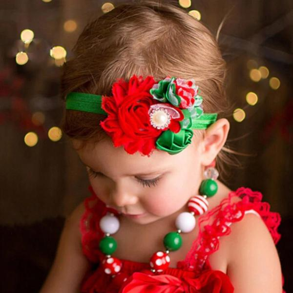 Shabby Chic Christmas Headband