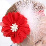 Floral and Feathers Christmas Headband