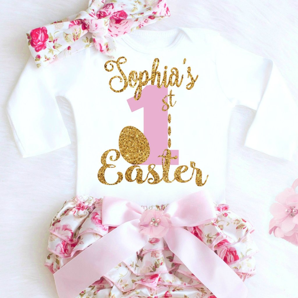6b39921ae67b Baby Girl 1st Easter Outfit
