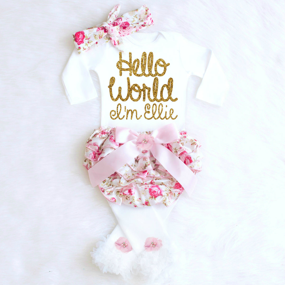 Hello world baby girl outfit 17 99 49 99 hello world onesie hello world onesie