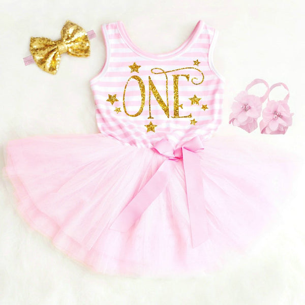 Twinkle Little Star FIRST BIRTHDAY DRESS