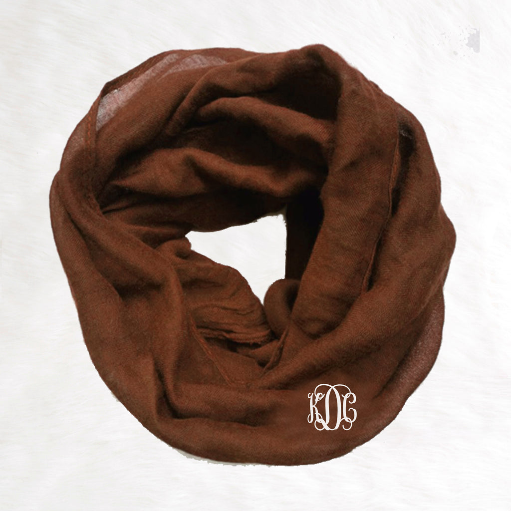 Toddler Infinity Scarf - Brown