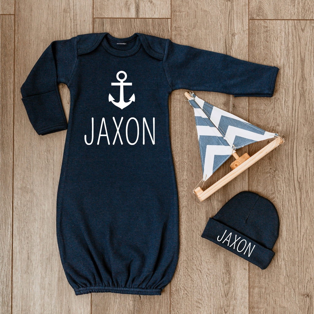 Personalized Baby Boy Outfit - Anchor