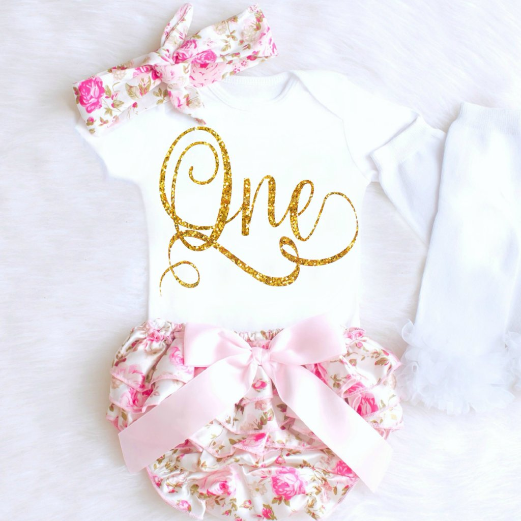 Baby Girl 1st Birthday Outfit.Baby Girl 1st Birthday Outfit