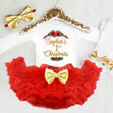 Personalized Girls 1st Christmas Outfit