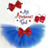 Baby Girl Patriotic Outfit - Minnie Mouse Birthday Outfit