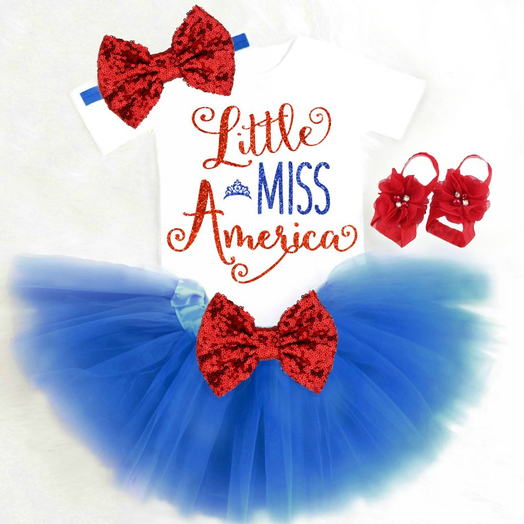 Baby Girl 4th of July Tutu Outfit