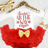 Baby Girl Christmas Outfit, Sparkle All the Way Onesie