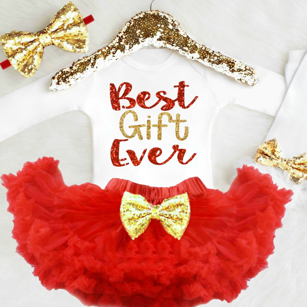 fbdef970b Newborn Girl Christmas Outfit | 1st Christmas Outfit Baby Girl