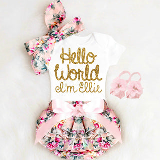 62df8be8c402 Personalized Baby Girl Coming Home Outfit