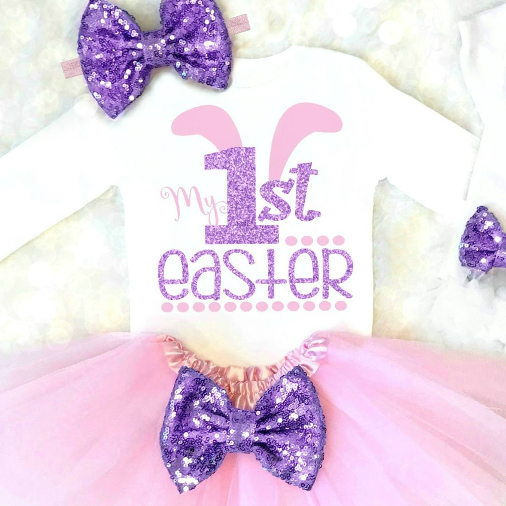 47256e6e56e5 Girls Easter Outfit Personalized