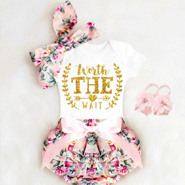 Worth the Wait Onesie Outfit