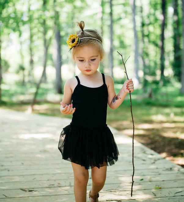 BLACK LEOTARD TUTU DRESS