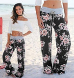 Floral Lounge Pants Black