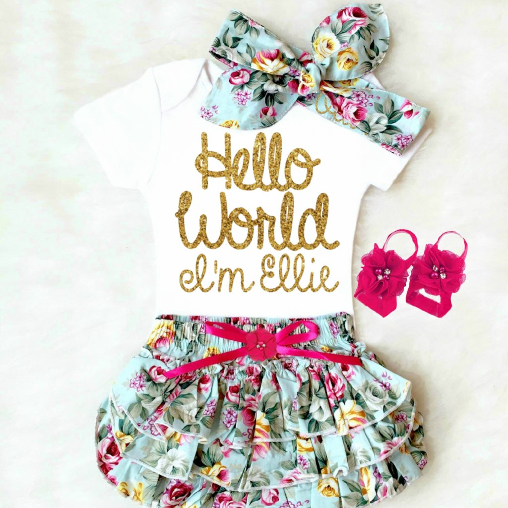872eaf22d Baby Girl Coming Home Outfits