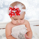 Bow and Feather Christmas Headband