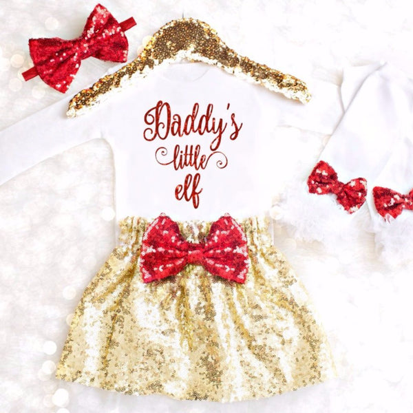 GIRLS CHRISTMAS OUTFIT